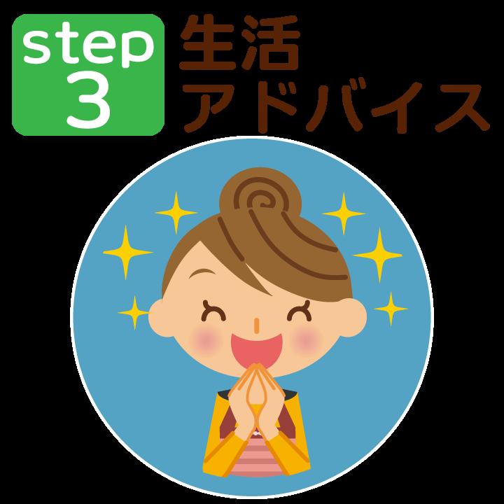 ステップ3:生活アドバイス